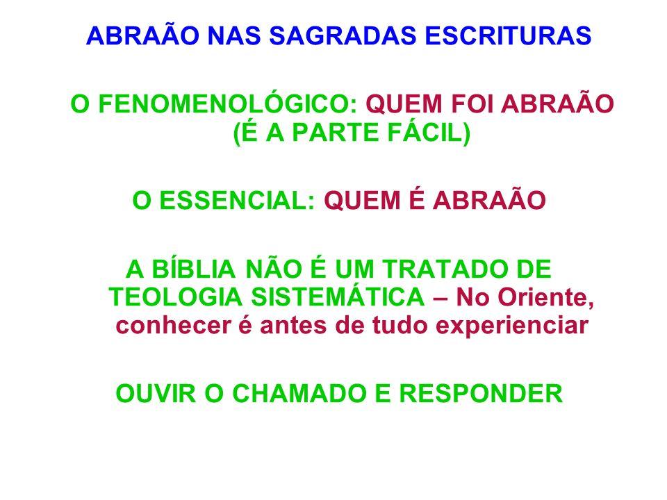 ABRAÃO NAS SAGRADAS ESCRITURAS
