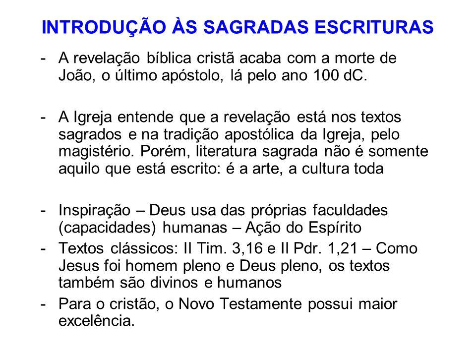 INTRODUÇÃO ÀS SAGRADAS ESCRITURAS
