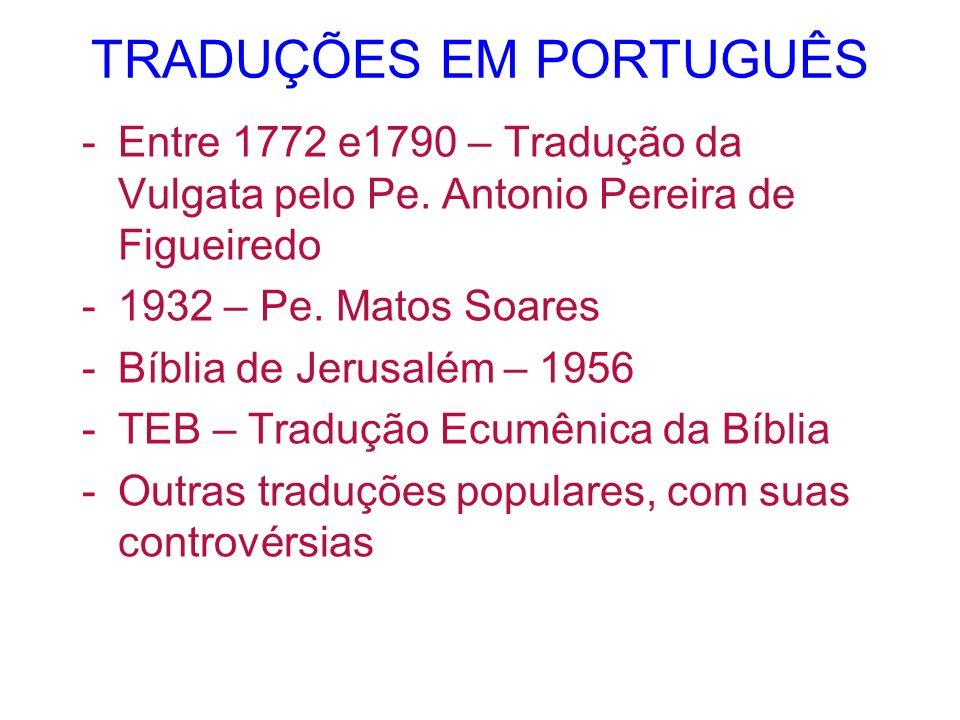 TRADUÇÕES EM PORTUGUÊS