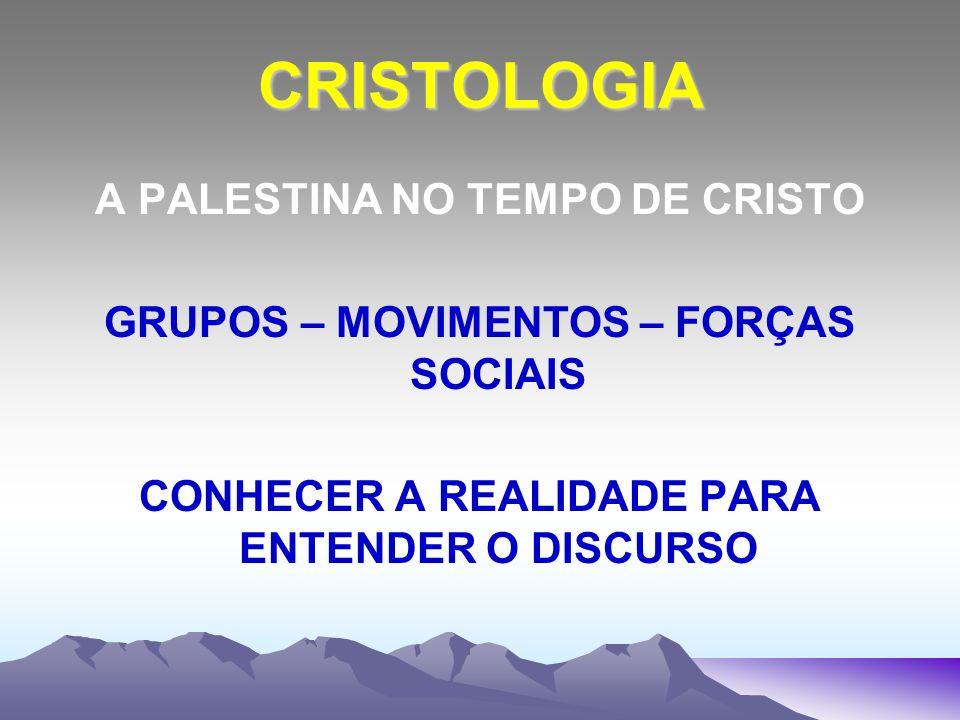 CRISTOLOGIA A PALESTINA NO TEMPO DE CRISTO