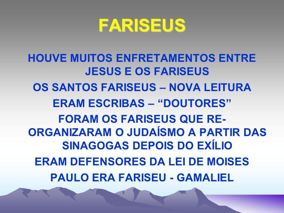 FARISEUS HOUVE MUITOS ENFRETAMENTOS ENTRE JESUS E OS FARISEUS