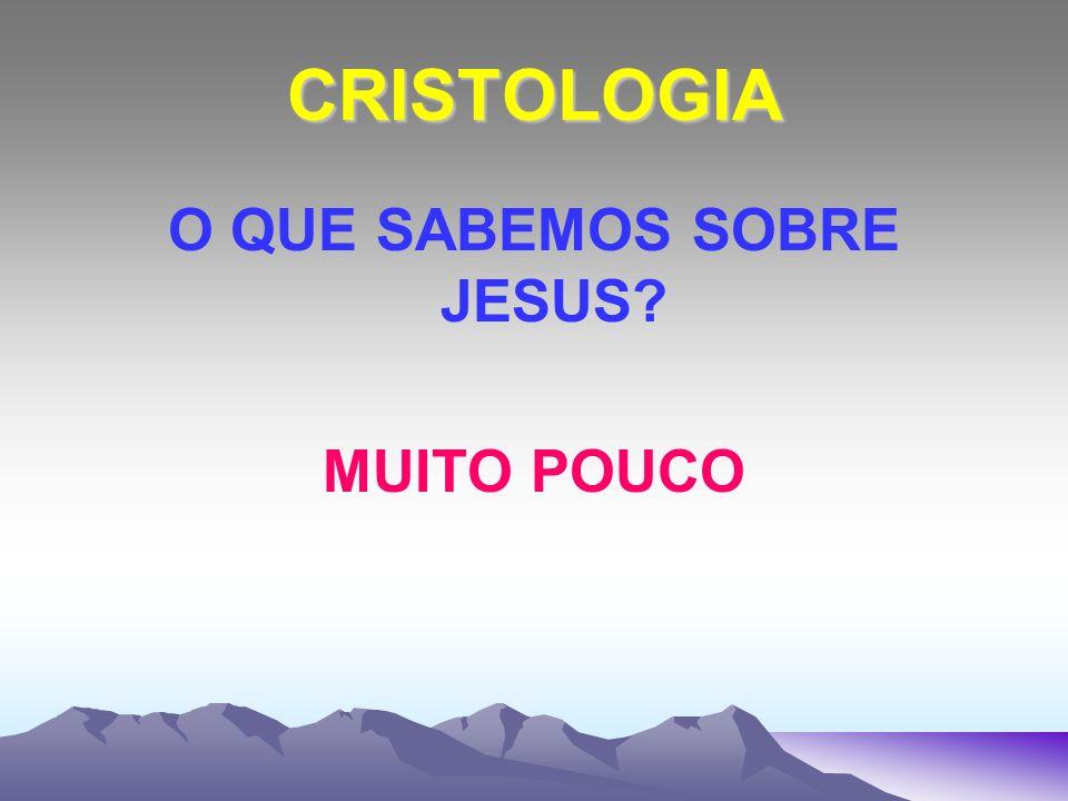 O QUE SABEMOS SOBRE JESUS