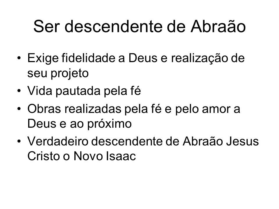 Ser descendente de Abraão