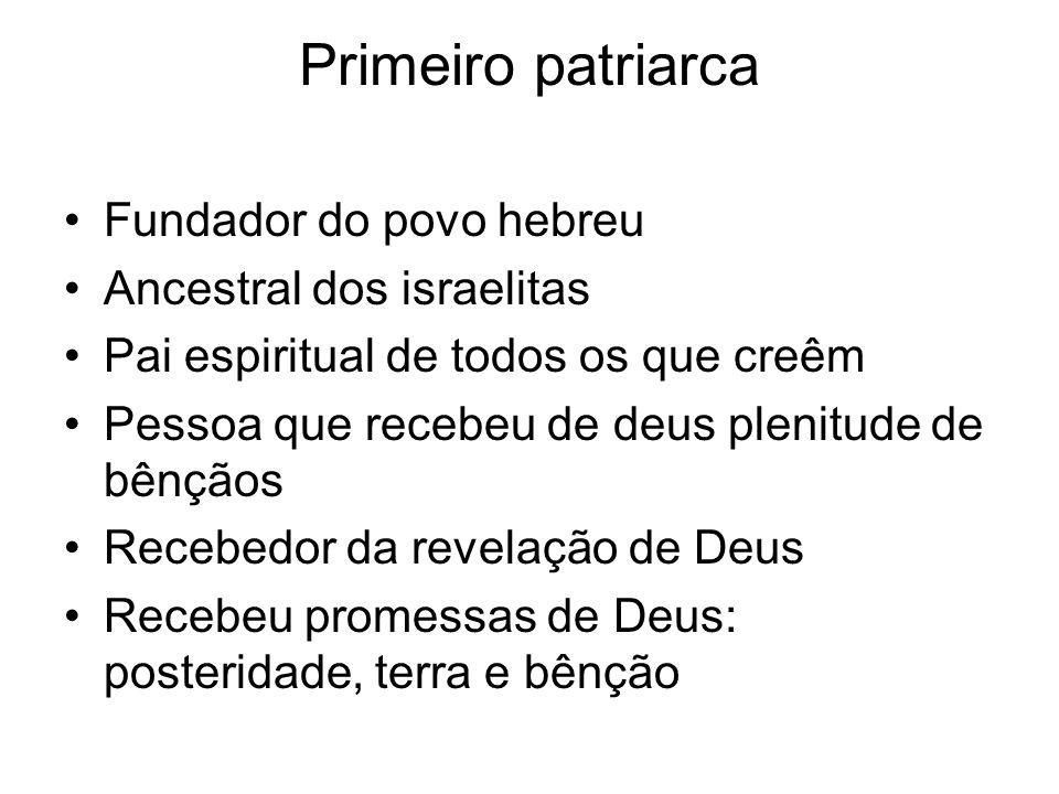 Primeiro patriarca Fundador do povo hebreu Ancestral dos israelitas