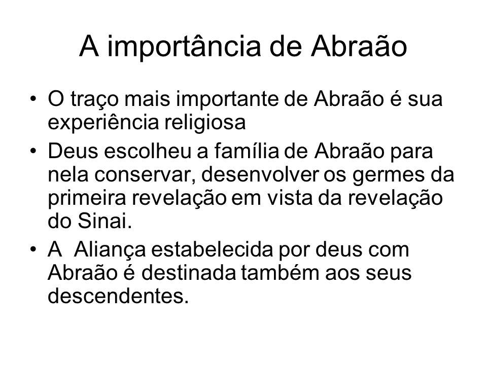 A importância de Abraão