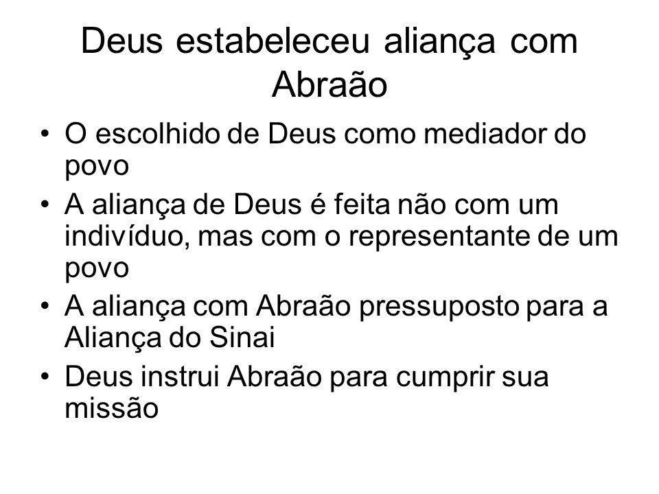 Deus estabeleceu aliança com Abraão