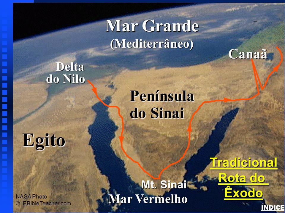 Egito Mar Grande Península do Sinai Canaã (Mediterrâneo) Delta do Nilo