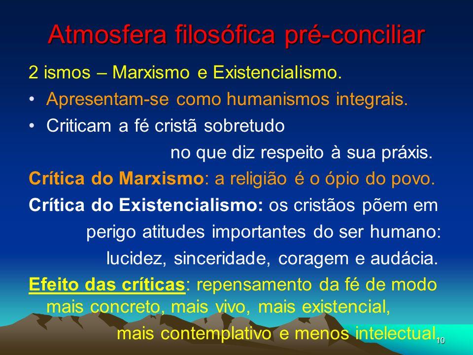 Atmosfera filosófica pré-conciliar