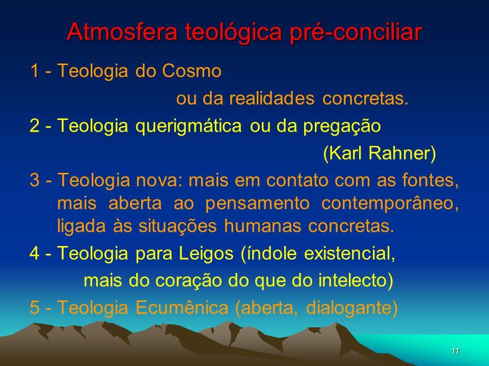 Atmosfera teológica pré-conciliar