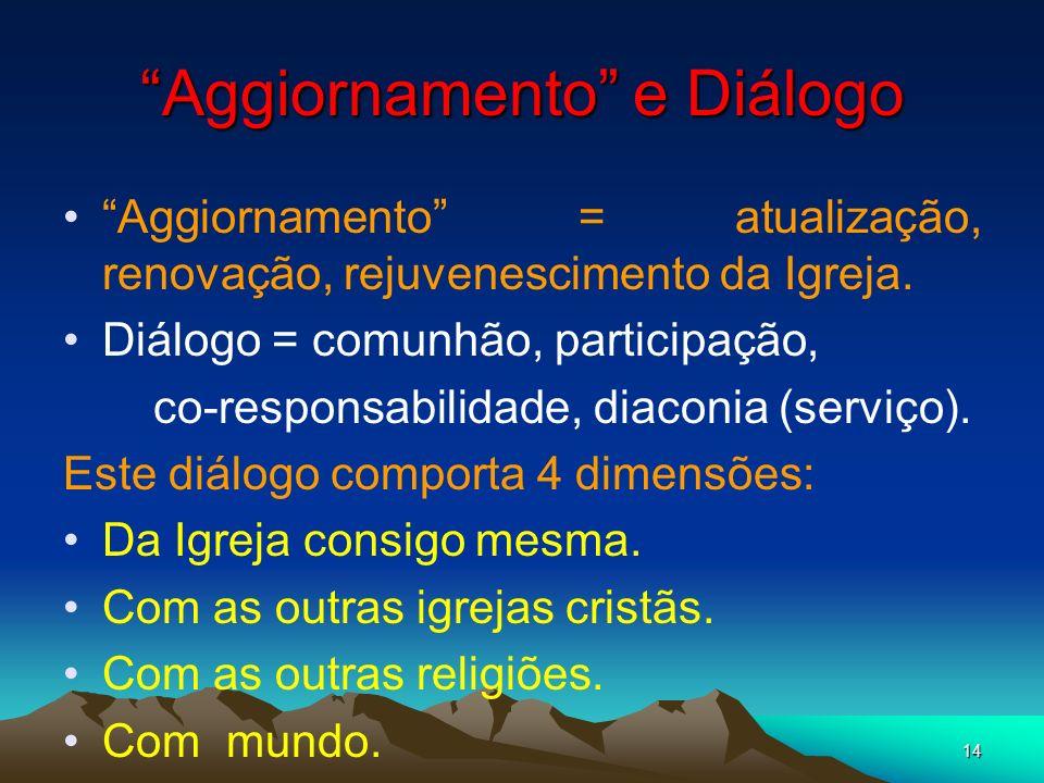 Aggiornamento e Diálogo