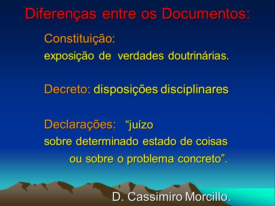 Diferenças entre os Documentos: