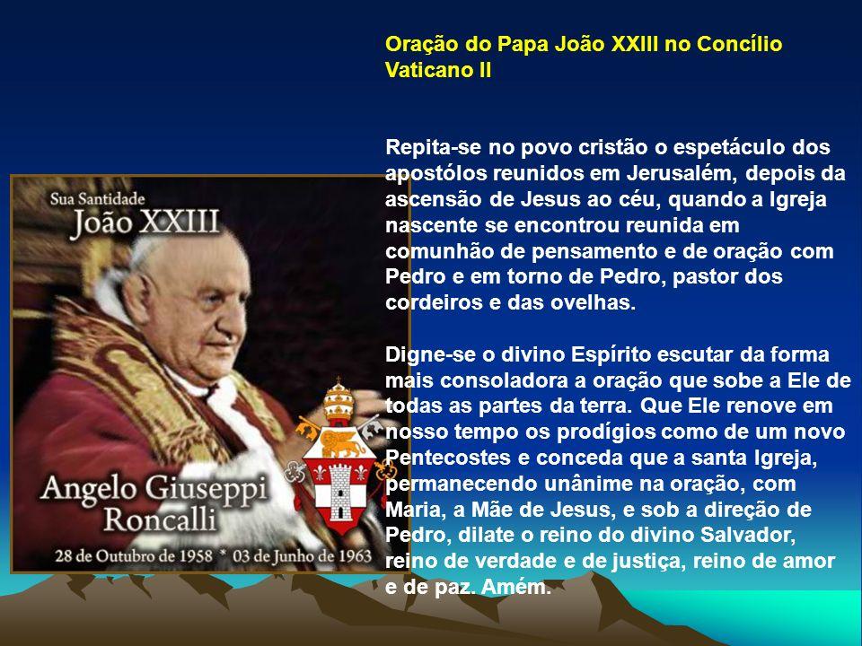 Oração do Papa João XXIII no Concílio Vaticano II