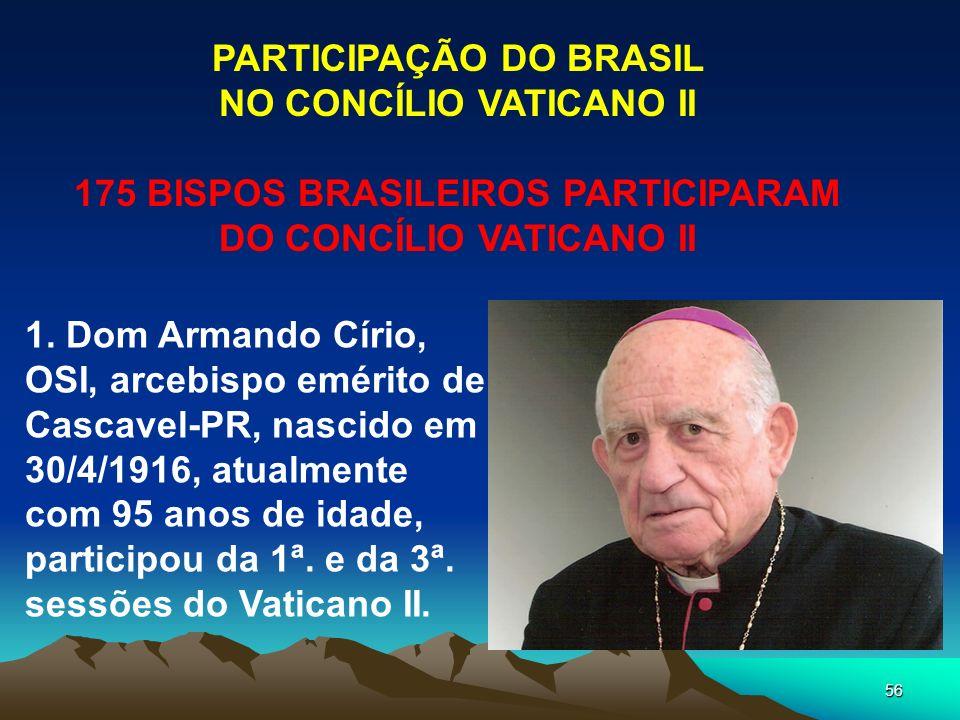 PARTICIPAÇÃO DO BRASIL NO CONCÍLIO VATICANO II
