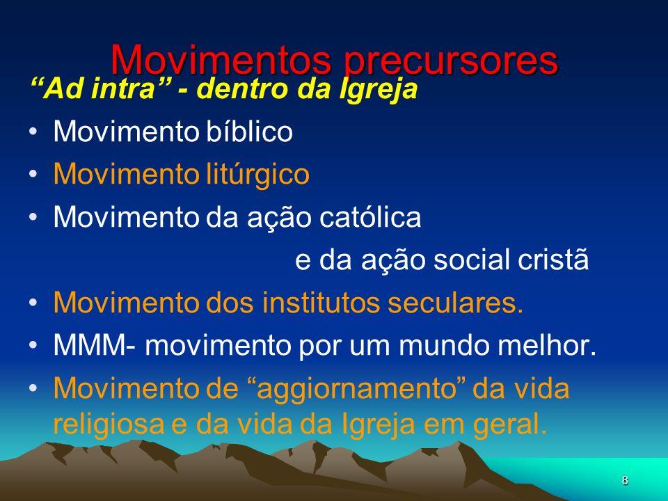 Movimentos precursores