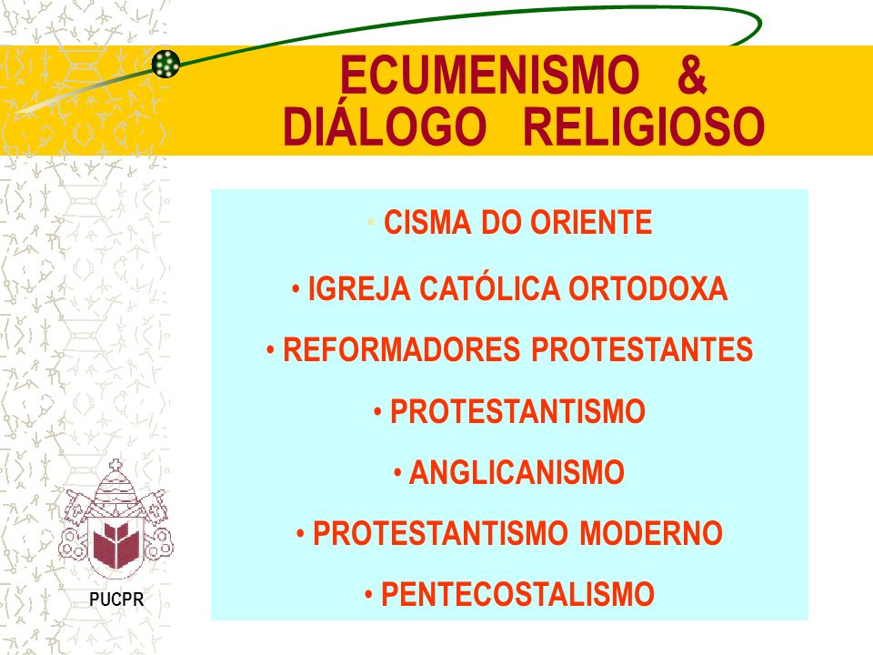 ECUMENISMO & DIÁLOGO RELIGIOSO