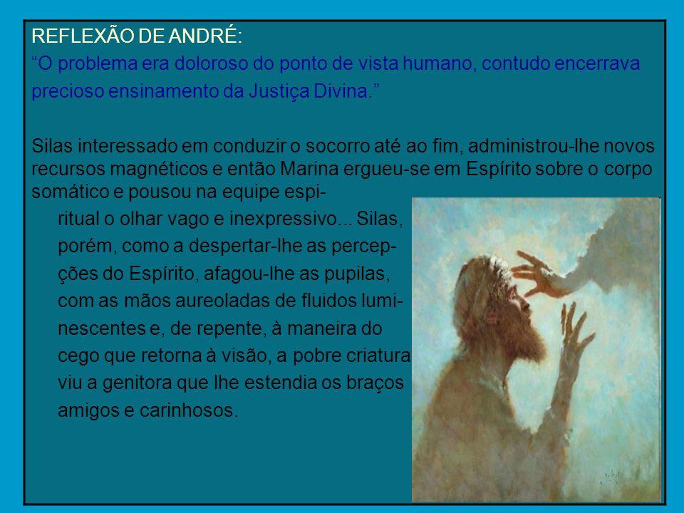REFLEXÃO DE ANDRÉ: O problema era doloroso do ponto de vista humano, contudo encerrava. precioso ensinamento da Justiça Divina.