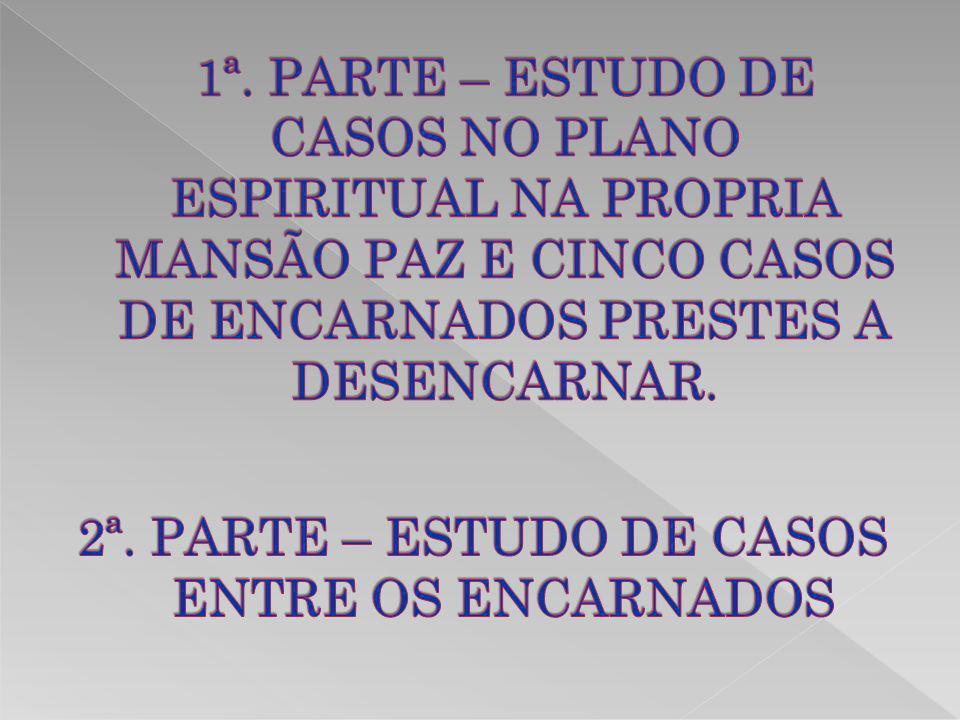 2ª. PARTE – ESTUDO DE CASOS ENTRE OS ENCARNADOS