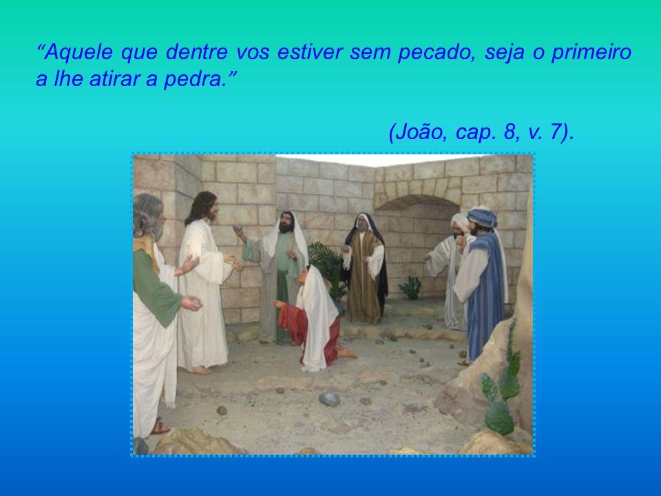 Aquele que dentre vos estiver sem pecado, seja o primeiro a lhe atirar a pedra.