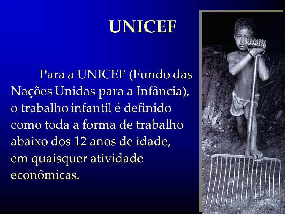 UNICEF Para a UNICEF (Fundo das Nações Unidas para a Infância),