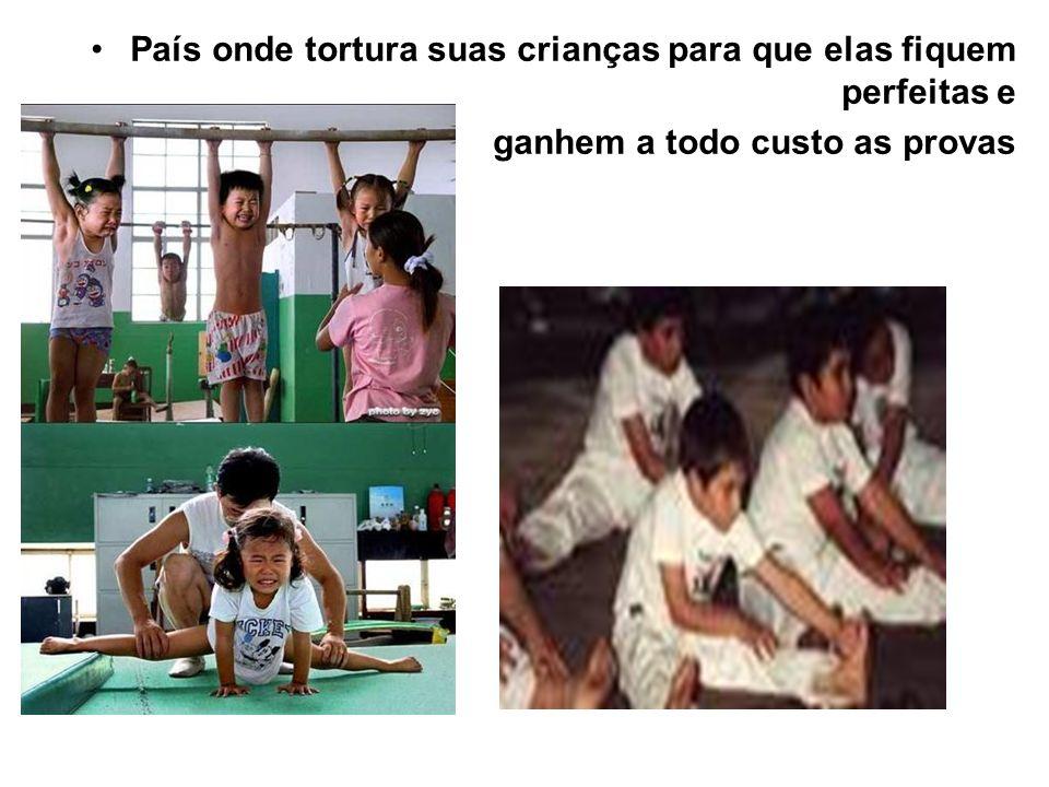 País onde tortura suas crianças para que elas fiquem perfeitas e
