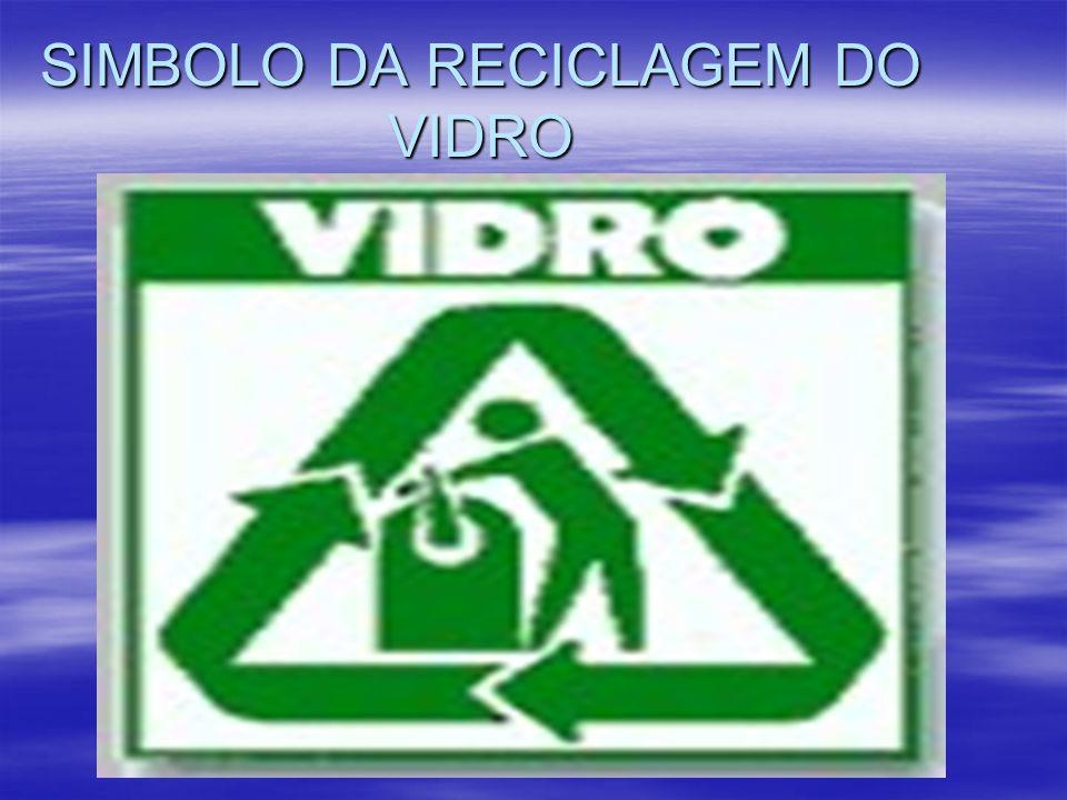 SIMBOLO DA RECICLAGEM DO VIDRO