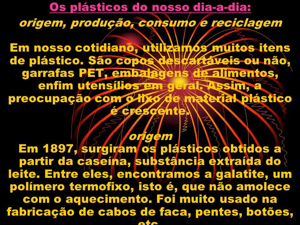 Os plásticos do nosso dia-a-dia: