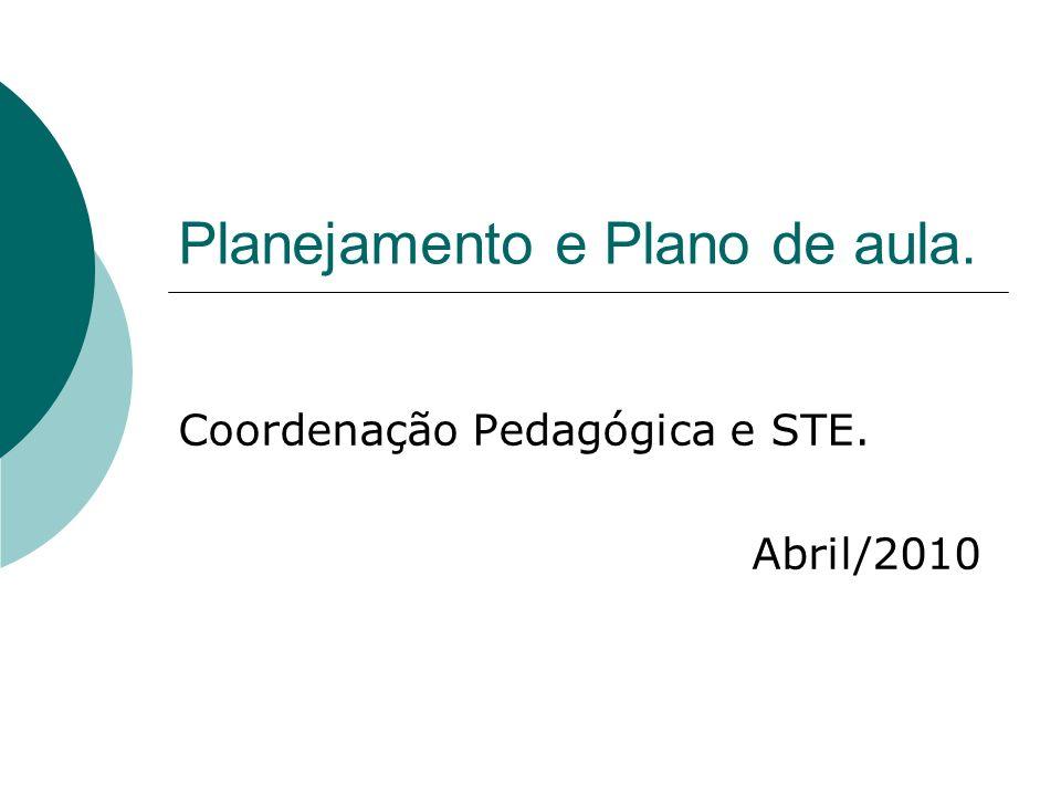 Planejamento e Plano de aula.