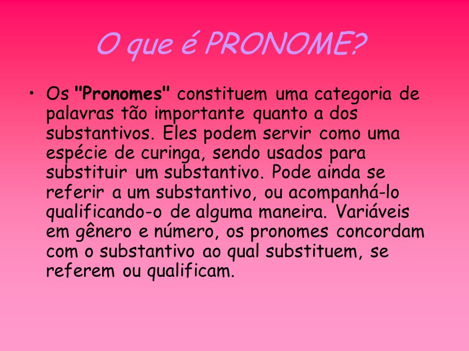Pronomes ppt carregar for O que e portador