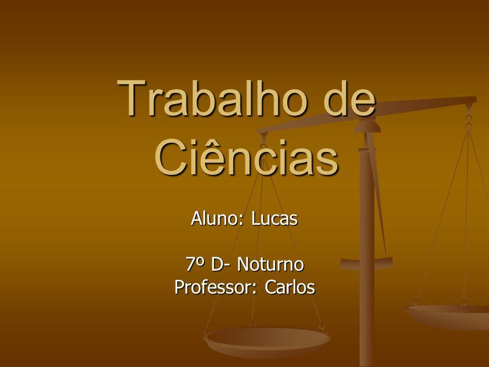 Aluno: Lucas 7º D- Noturno Professor: Carlos