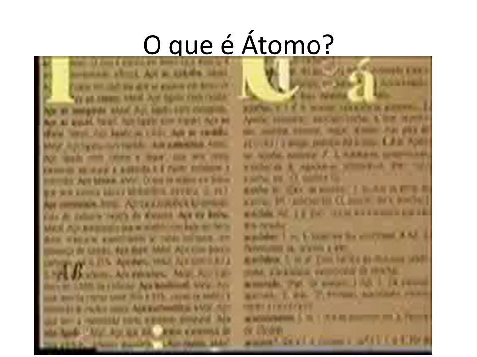 O que é Átomo