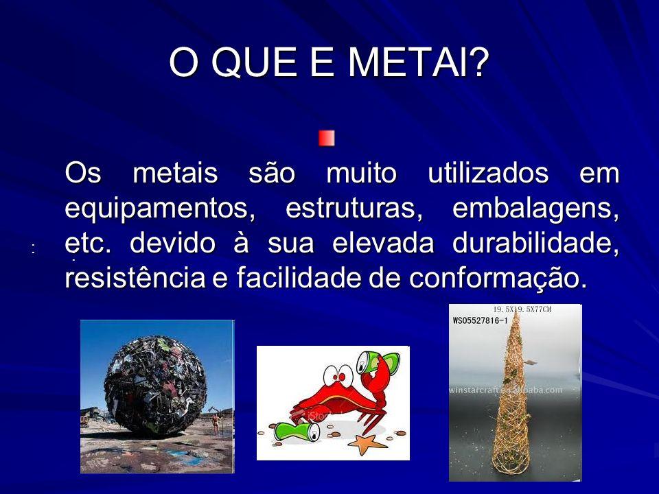 O QUE E METAl