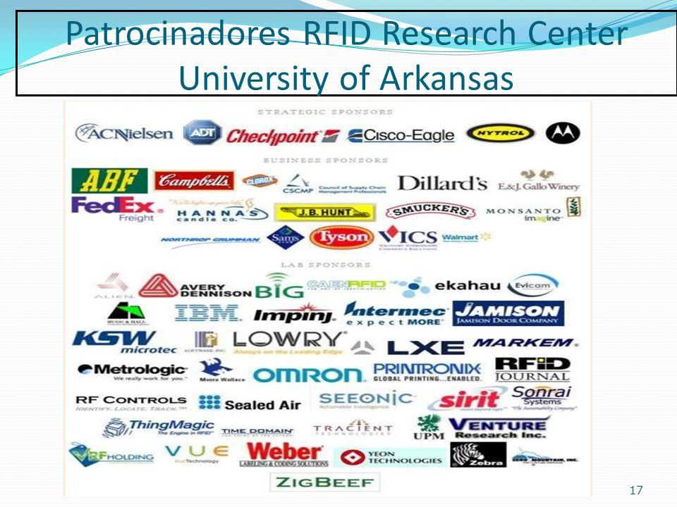 Patrocinadores RFID Research Center University of Arkansas