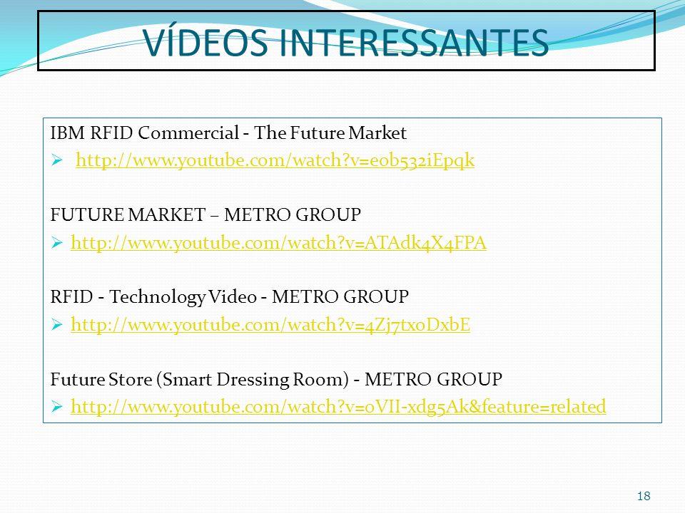VÍDEOS INTERESSANTES IBM RFID Commercial - The Future Market