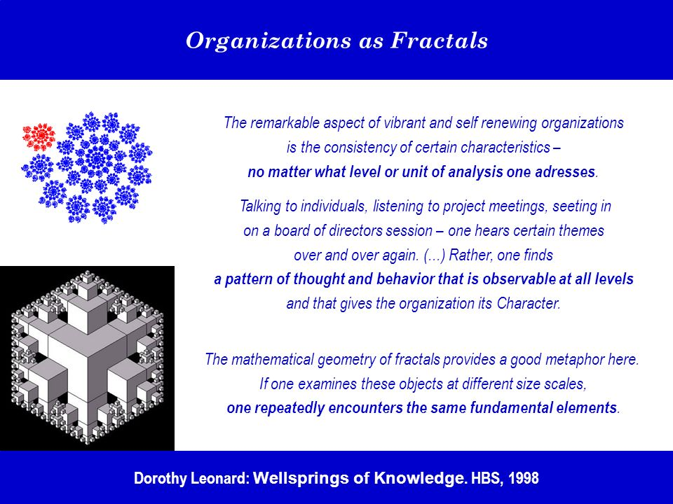 Organizations as Fractals