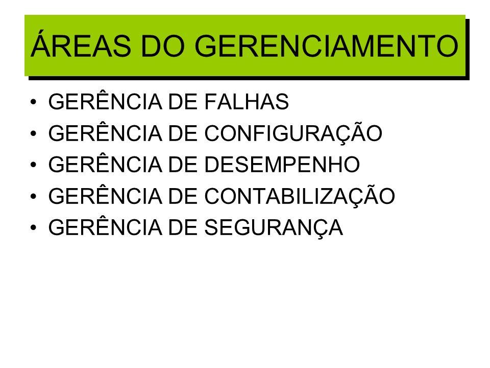 ÁREAS DO GERENCIAMENTO