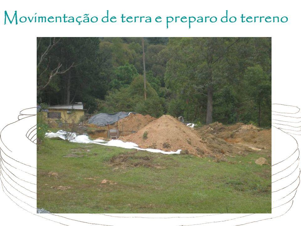 Movimentação de terra e preparo do terreno
