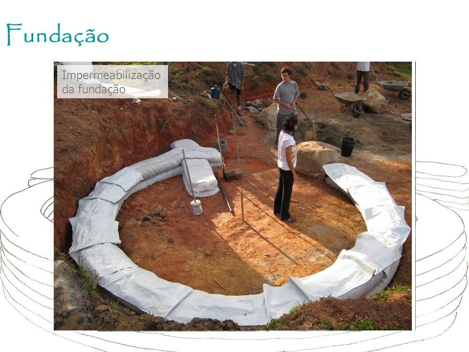 Fundação Impermeabilização da fundação Segunda fiada fundação