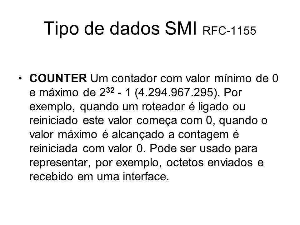 Tipo de dados SMI RFC-1155