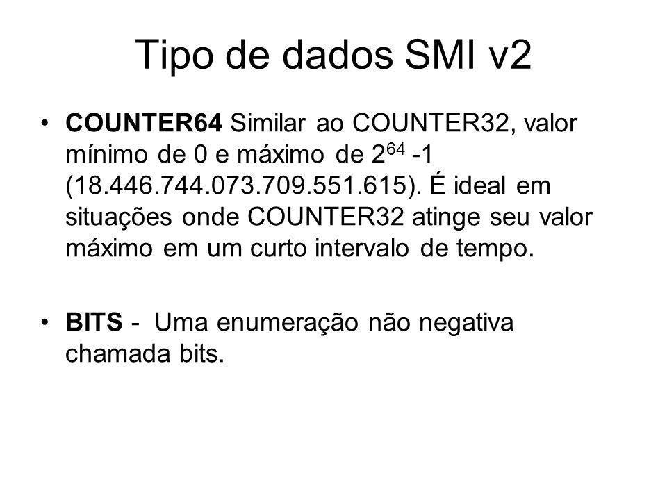 Tipo de dados SMI v2