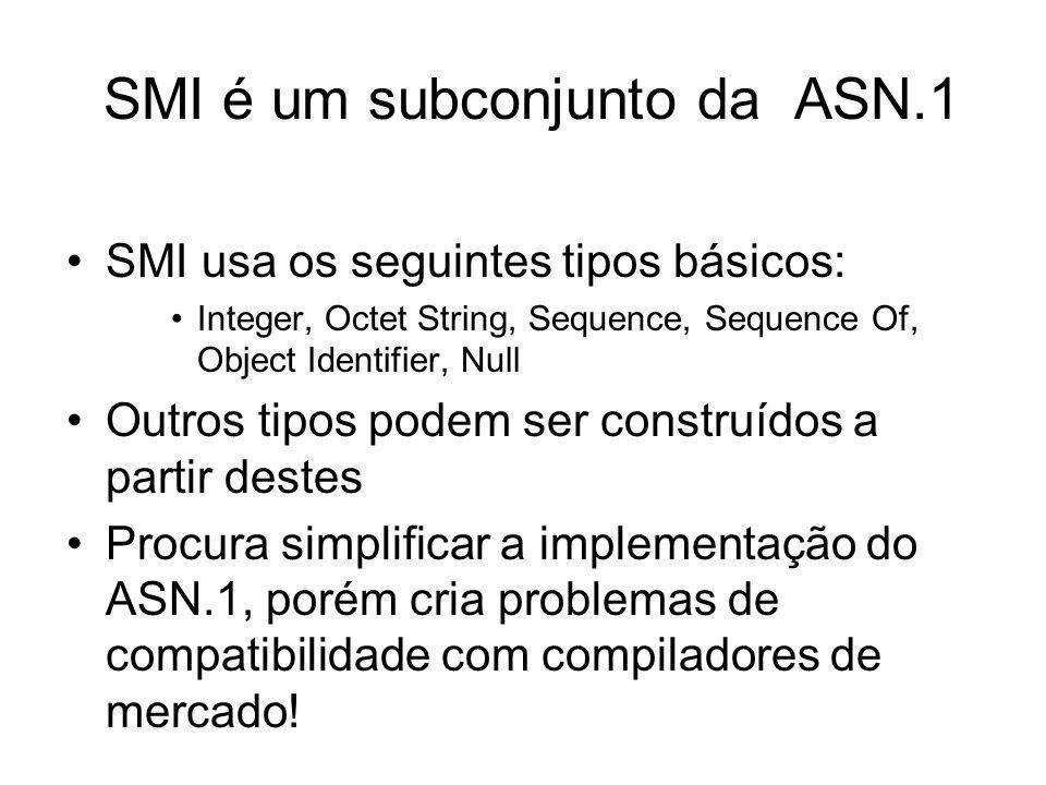 SMI é um subconjunto da ASN.1