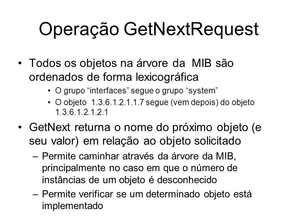 Operação GetNextRequest