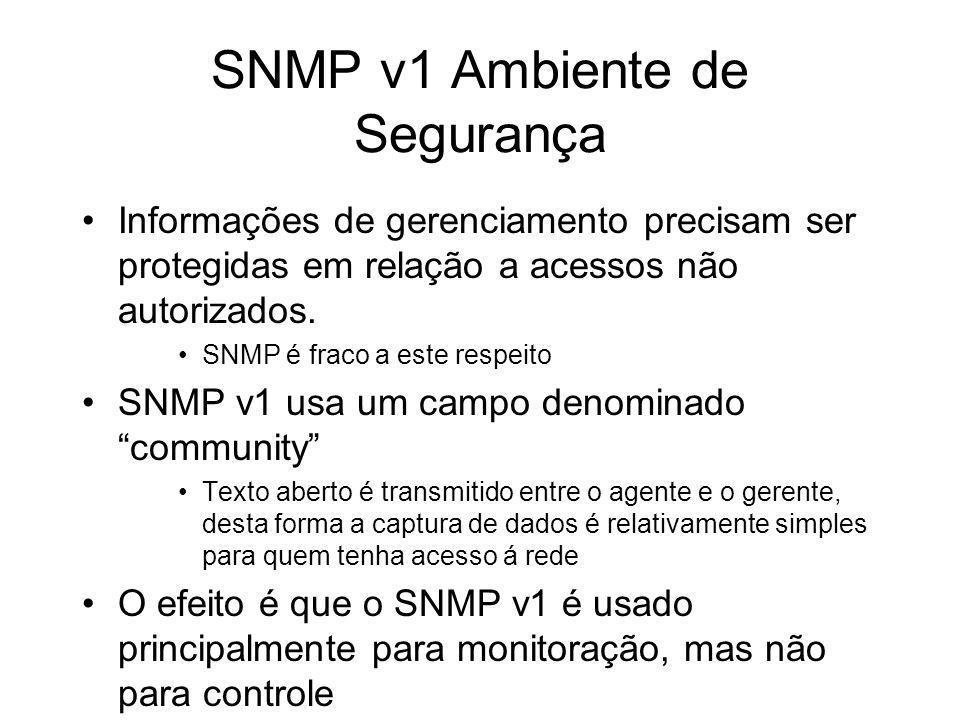 SNMP v1 Ambiente de Segurança
