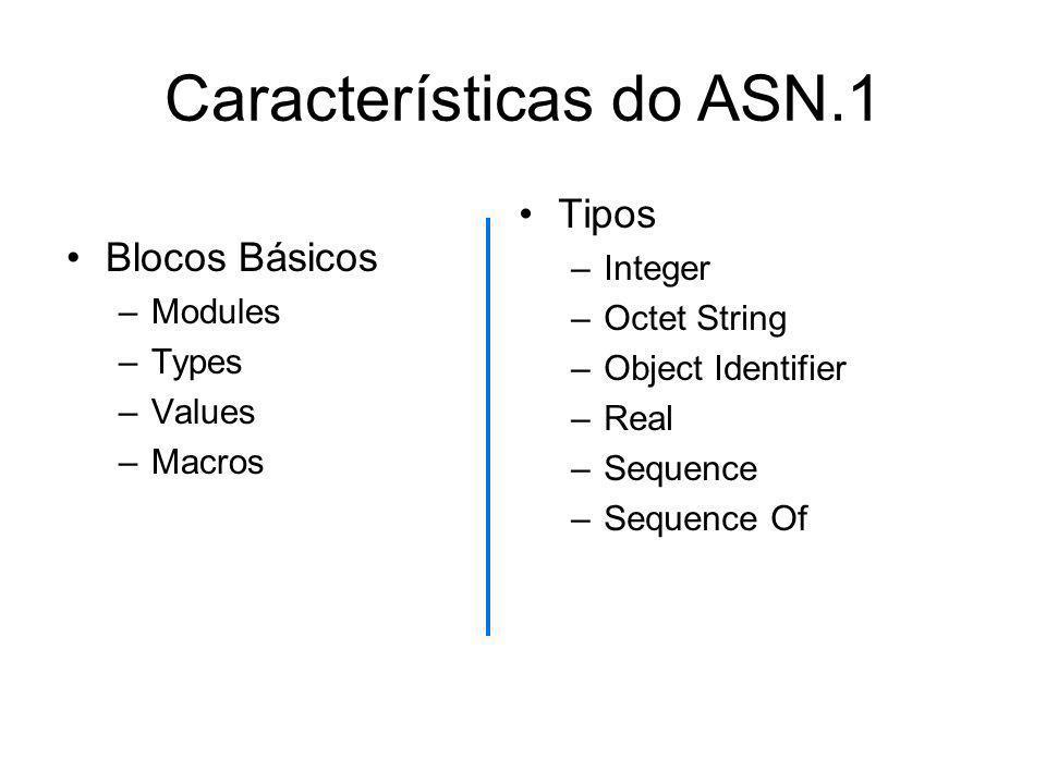Características do ASN.1