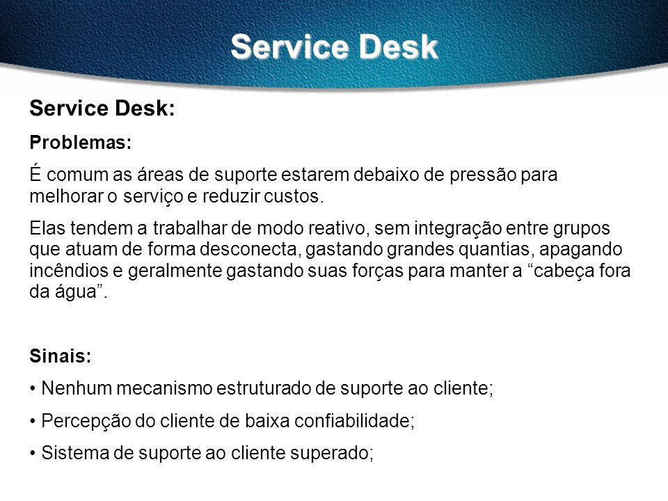 Service Desk Service Desk: Problemas: