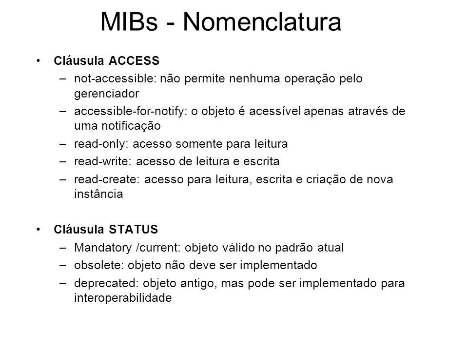 MIBs - Nomenclatura Cláusula ACCESS