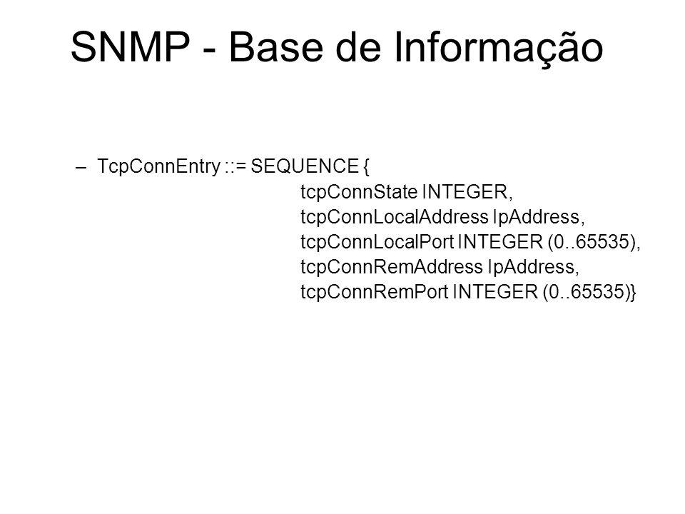 SNMP - Base de Informação
