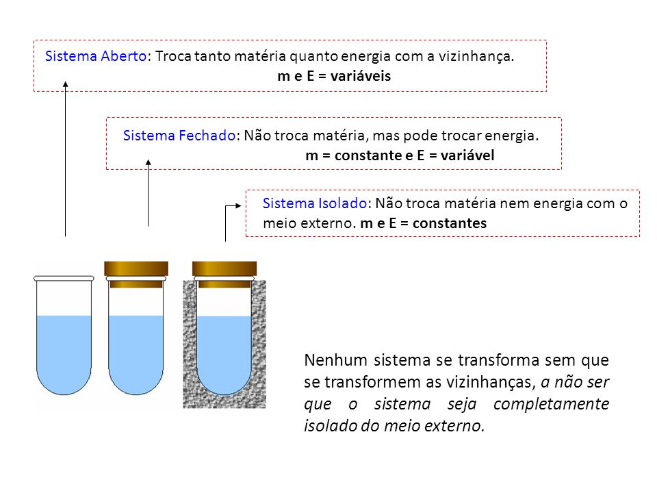 m = constante e E = variável