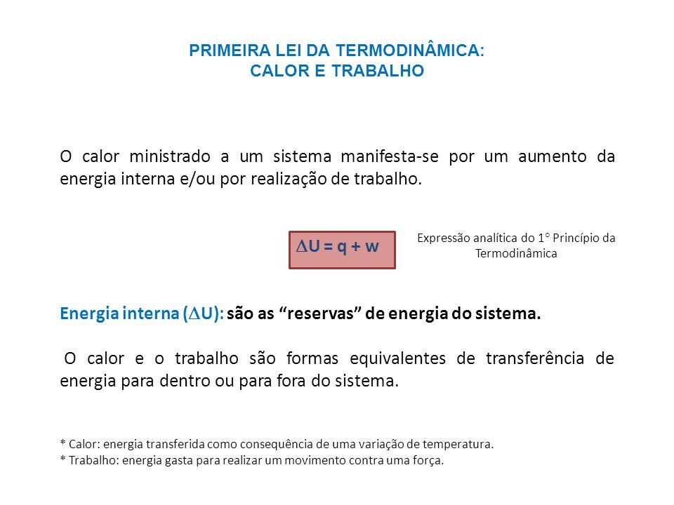 PRIMEIRA LEI DA TERMODINÂMICA: