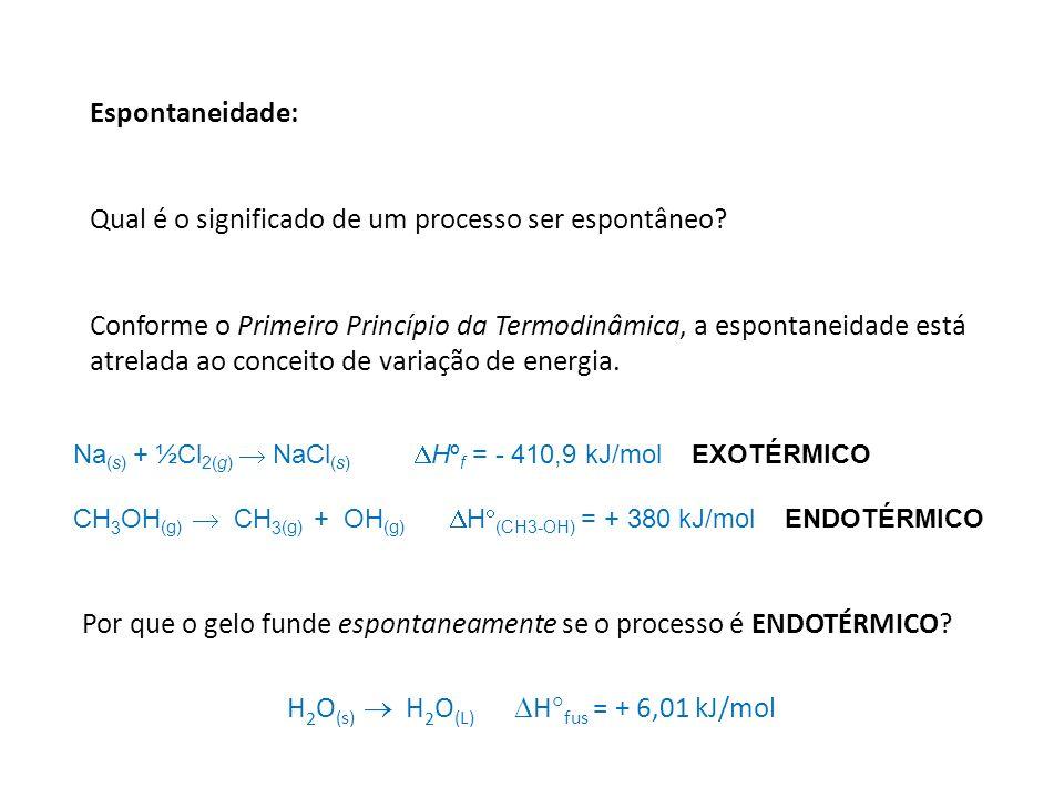 H2O(s)  H2O(L) Hfus = + 6,01 kJ/mol