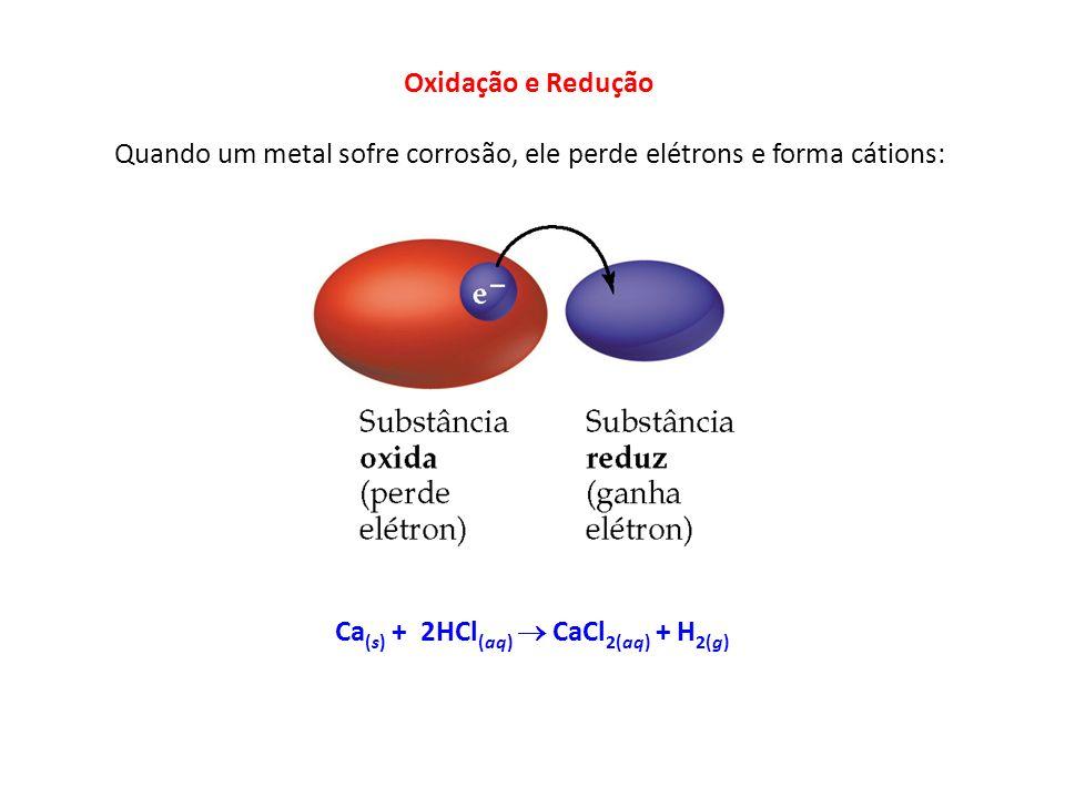 Quando um metal sofre corrosão, ele perde elétrons e forma cátions: